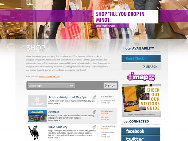 Visit Minot - Minot Shopping Choices