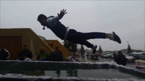 Polar Plunge Belly flop