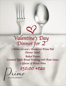 Primo Dinner-VDAY