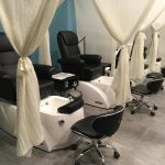 Upscale manicure and pedicure room.