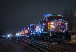 LED lit-up train.