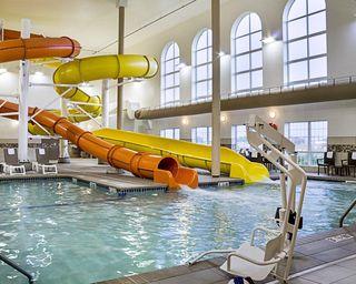 indoor pool, hotel, comfort suites, play, kid friendly, family friendly, Minot, Indoor Waterpark
